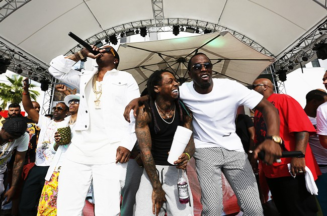 Puff Daddy, Mase and Lil Wayne perform at Sports Illustrated + CÎROC's fight weekend 2015
