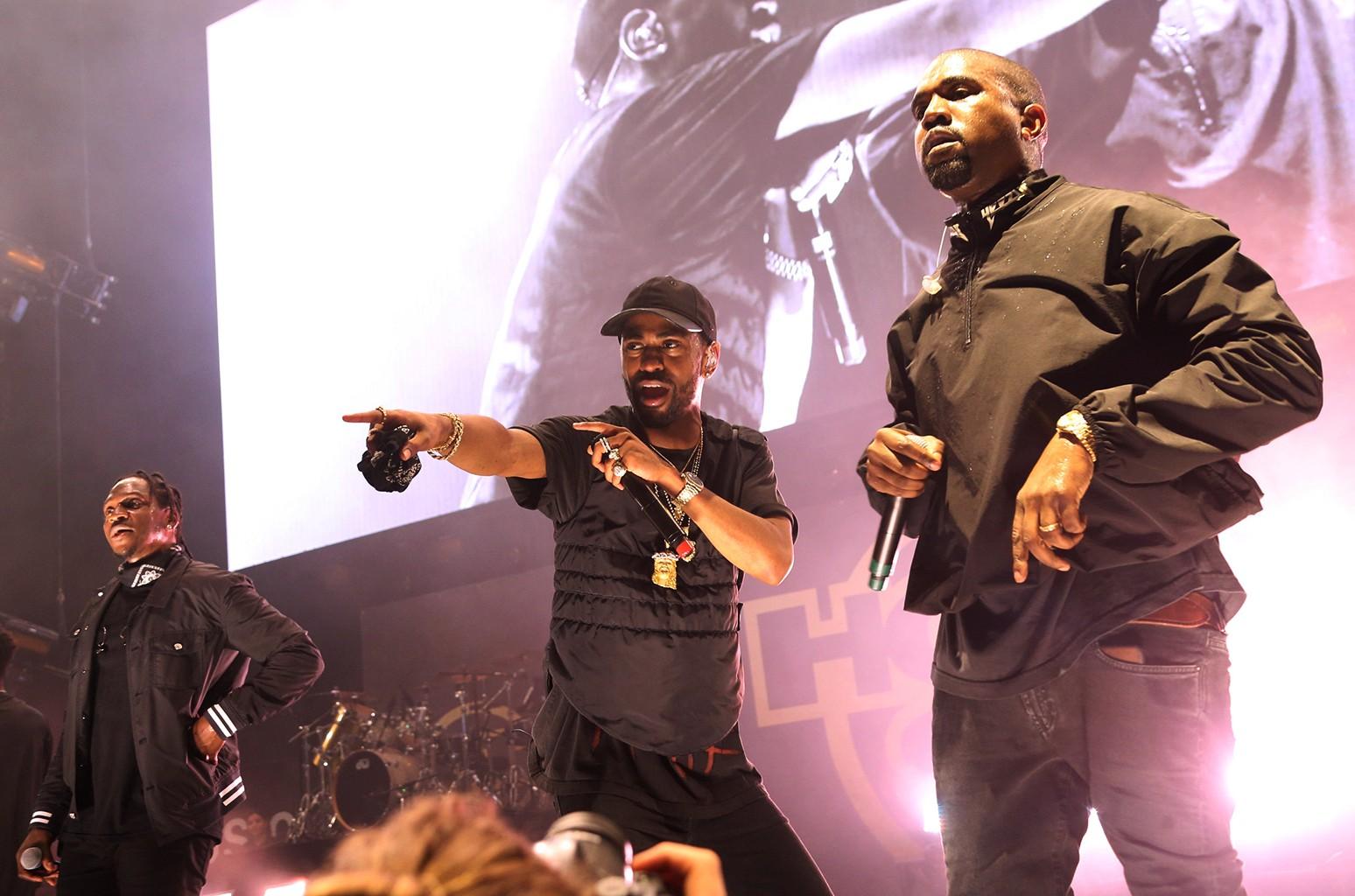 Pusha T, Big Sean and Kanye West at Hot 97's Summer Jam 2016
