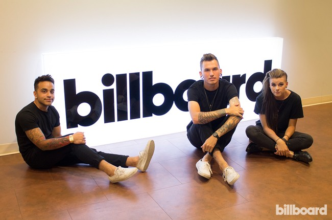 Pvris visits Billboard's New York offices on July 20, 2015.