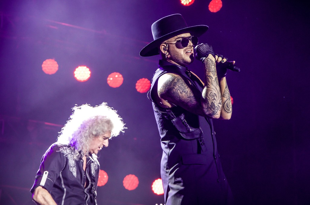 Queen and Adam Lambert perform in Tel Aviv's Park Hayarkon
