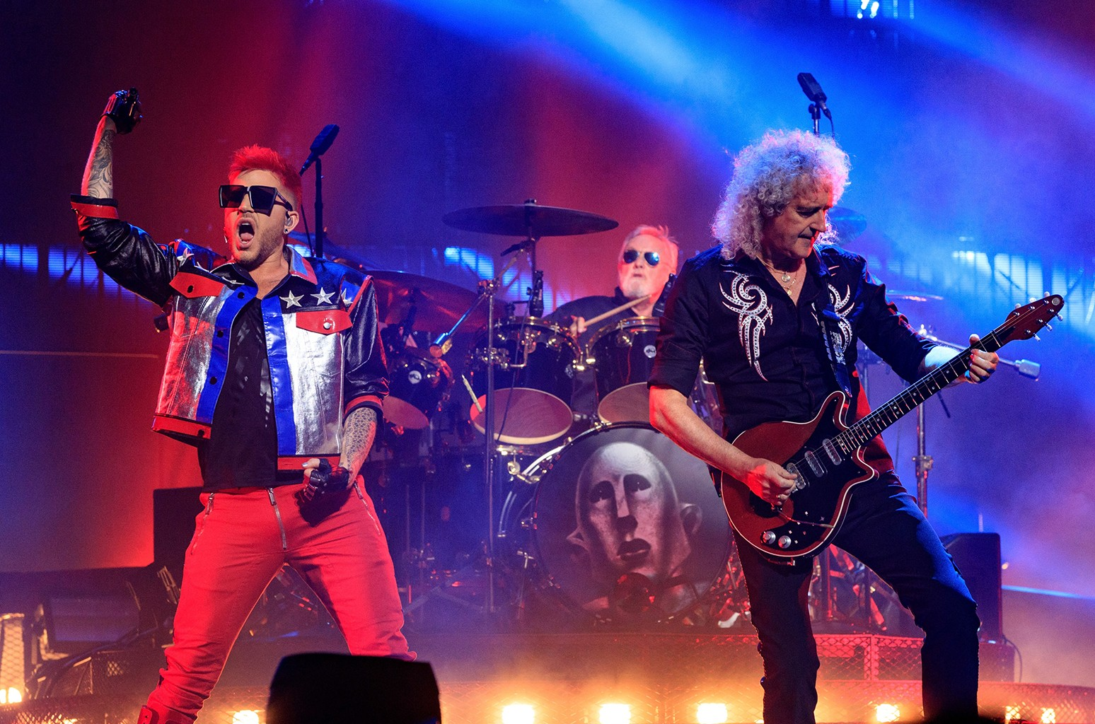 Queen and Adam Lambert perform during the North American Tour kickoff at Gila River Arena on June 23, 2017 in Glendale, Ariz.