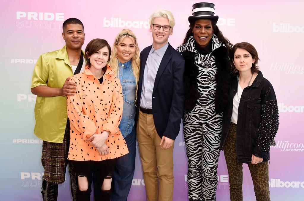 ILoveMakonnen, Sara Quin of Tegan and Sara, Hayley Kiyoko, Nolan Feeney, Big Freedia and Tegan Quin of Tegan and Sara