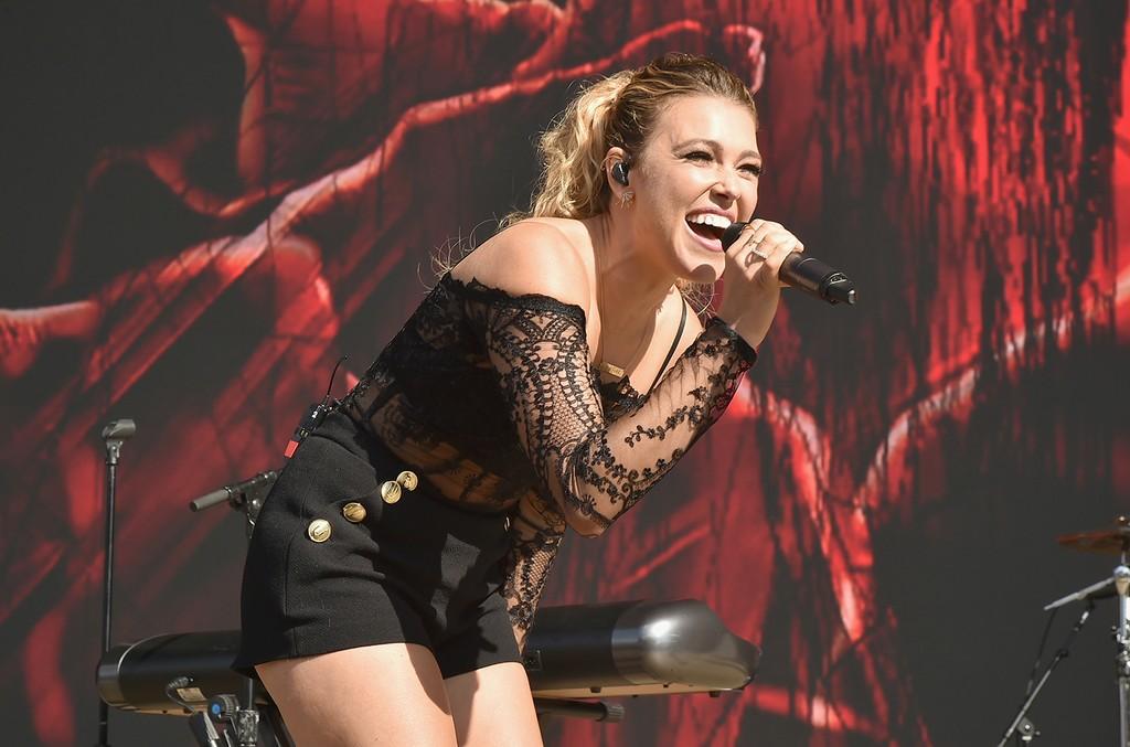 Rachel Platten performs at the 2016 Billboard Hot 100 Festival