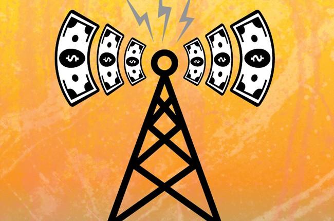 radio waves money