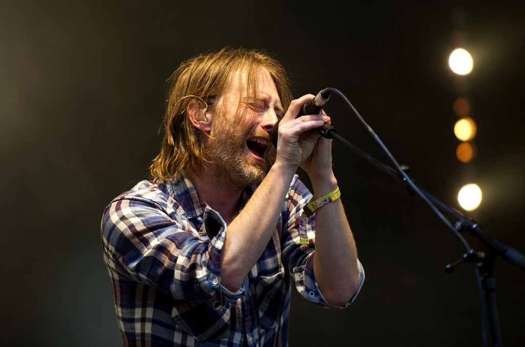Radiohead perform at Glastonbury Festival