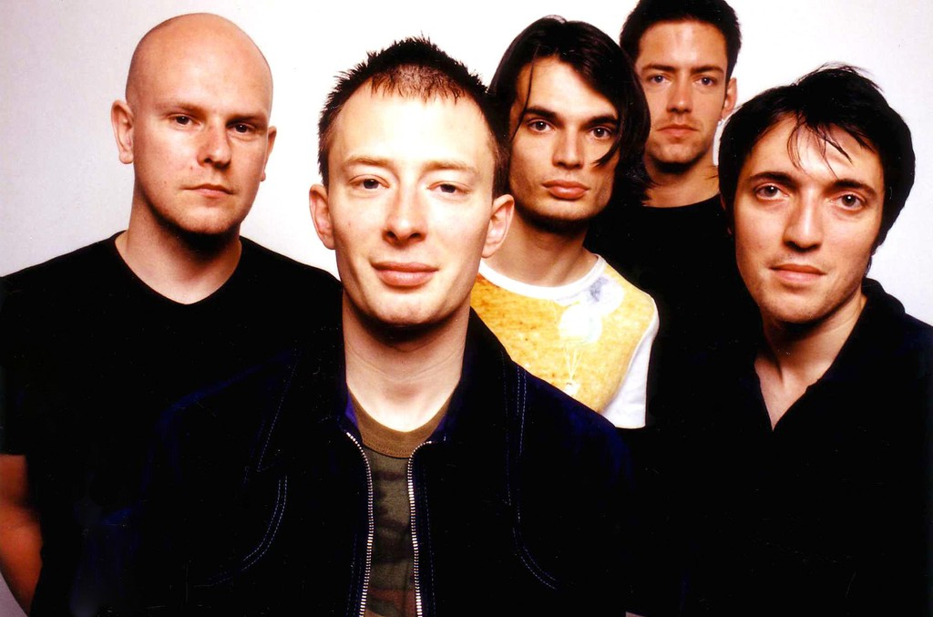Radiohead photographed on June 11, 1997 in Hollywood, Calif.