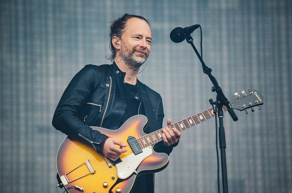 Thom Yorke of Radiohead performs at Emirates Old Trafford on July 4, 2017 in Manchester, England.