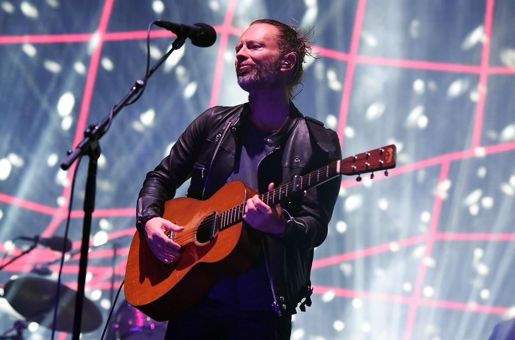 Thom Yorke of Radiohead performs on the Coachella Stage during day 1 of the Coachella Valley Music And Arts Festival (Weekend 1) at the Empire Polo Club on April 14, 2017 in Indio, Calif.