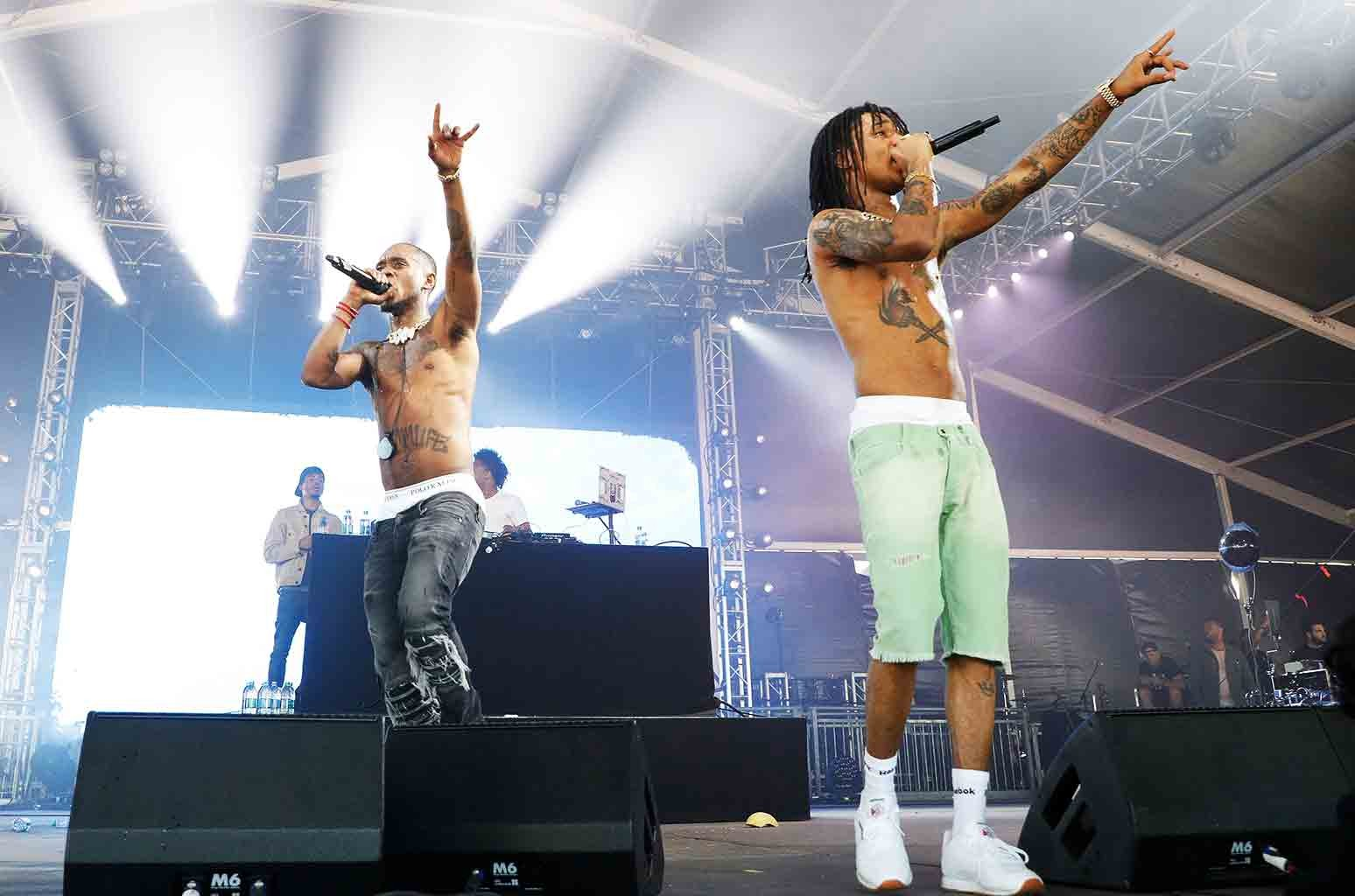 Swae Lee and Slim Jxmm of Rae Sremmurd perform live onstage during 2017 Governors Ball Music Festival - Day 2 at Randall's Island on June 3, 2017 in New York City.
