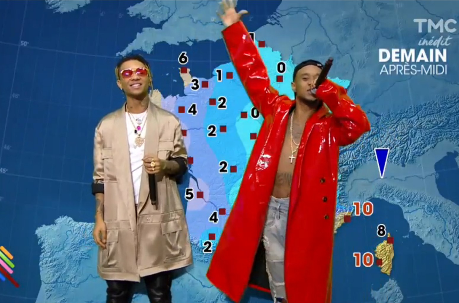 Rae Sremmurd give the weather report on TMC.