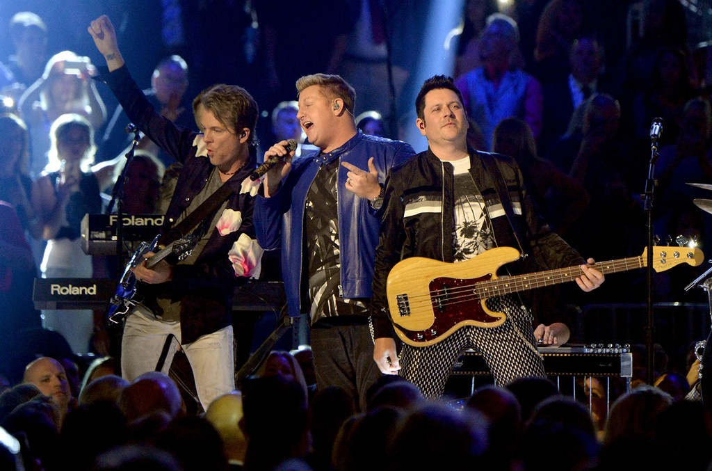 Rascal Flatts perform onstage during the 52nd Academy Of Country Music Awards at T-Mobile Arena on April 2, 2017 in Las Vegas.