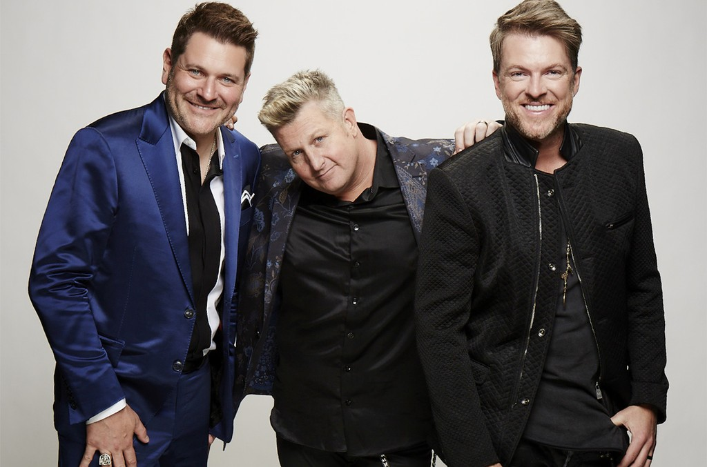 Rascal Flatts stops by the CBS Photo Booth during the 51st Academy of Country Music Awards at the MGM Grand Garden Arena in Las Vegas on April 3, 2016.