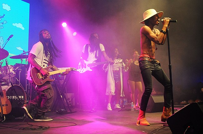 Raury performs at the 2015 MTV Artist to Watch Showcase on June 22, 2015 in New York City.