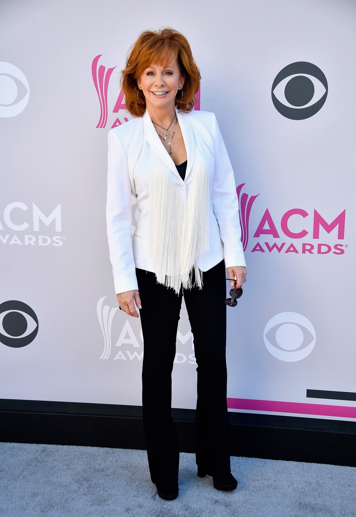 Reba McEntire attends the 52nd Academy Of Country Music Awards at Toshiba Plaza on April 2, 2017 in Las Vegas.