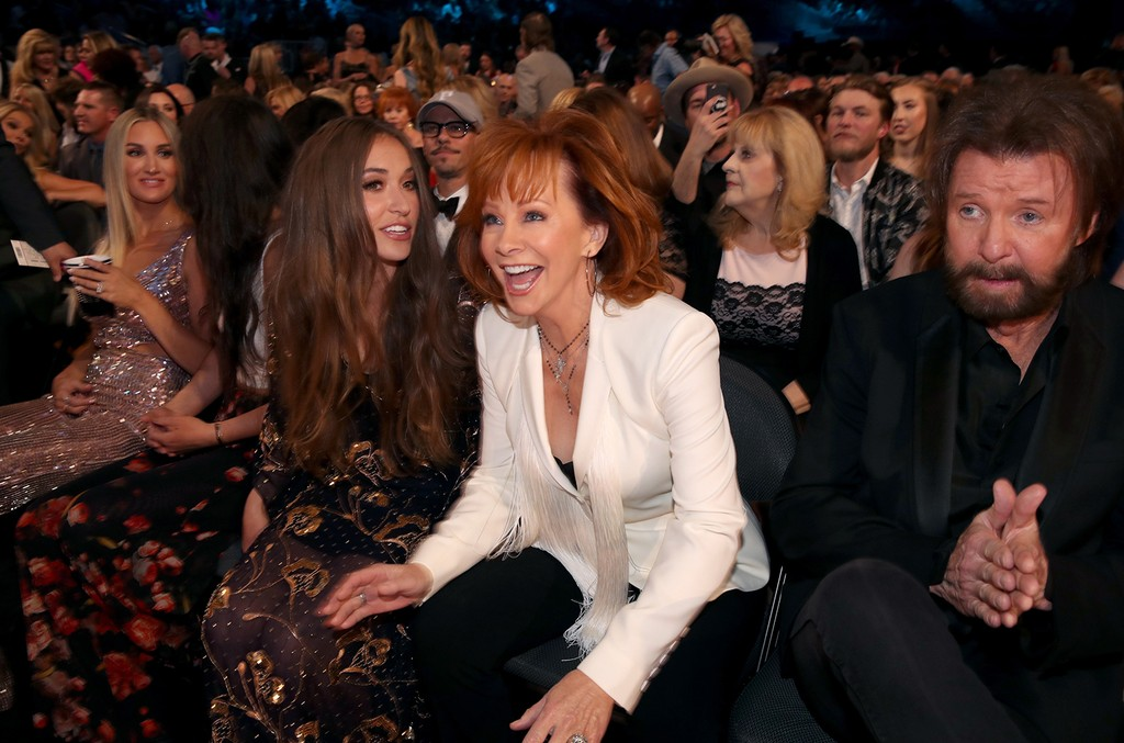 Lauren Daigle, Reba McEntire and Ronnie Dunn attend the 52nd Academy Of Country Music Awards at T-Mobile Arena on April 2, 2017 in Las Vegas.