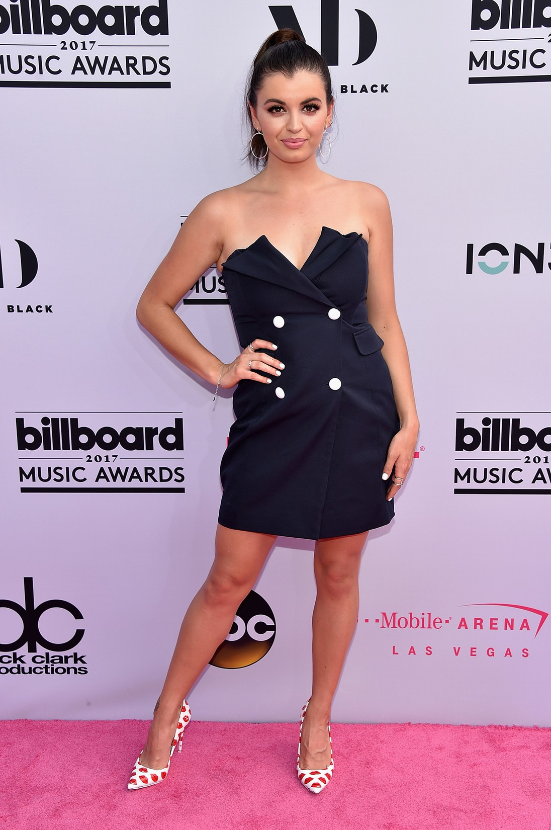 Rebecca Black attends the 2017 Billboard Music Awards at T-Mobile Arena on May 21, 2017 in Las Vegas.