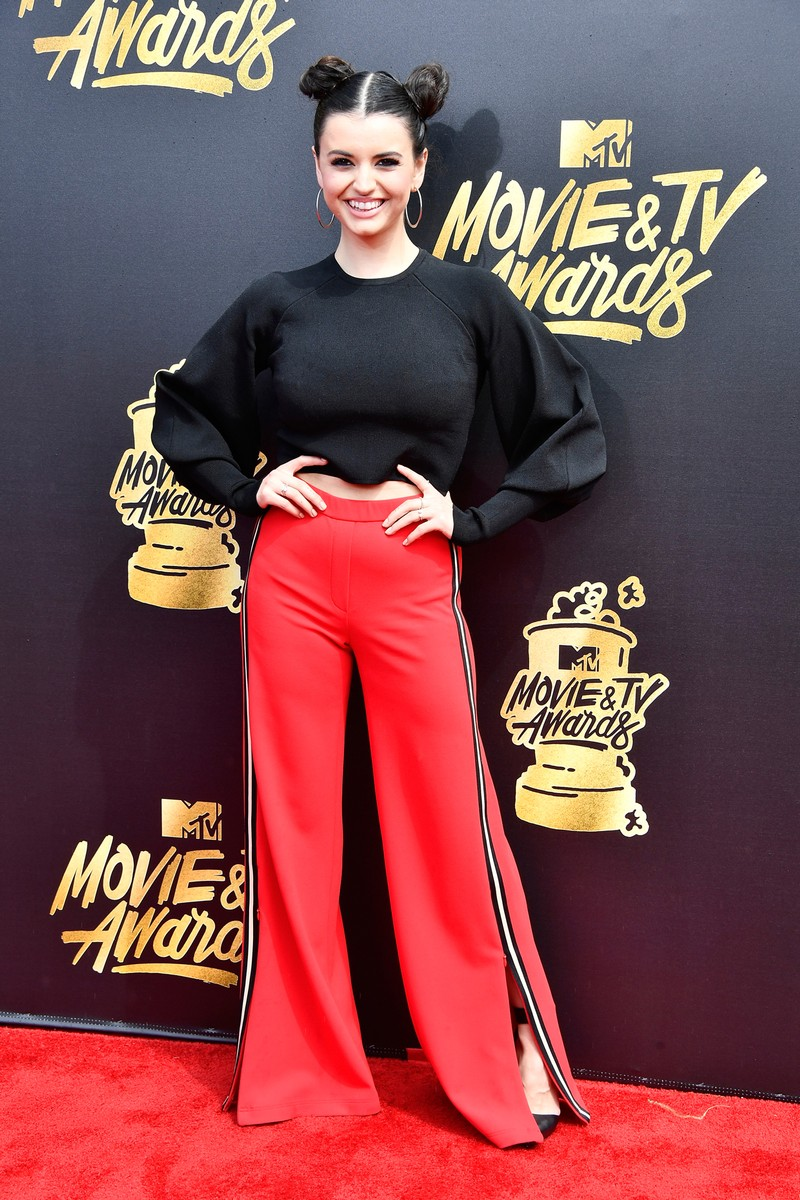 Rebecca Black attends the 2017 MTV Movie and TV Awards at The Shrine Auditorium on May 7, 2017 in Los Angeles.