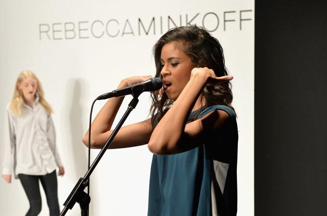 Alunageorge performs at Rebecca Minkoff's New York Fashion Week show