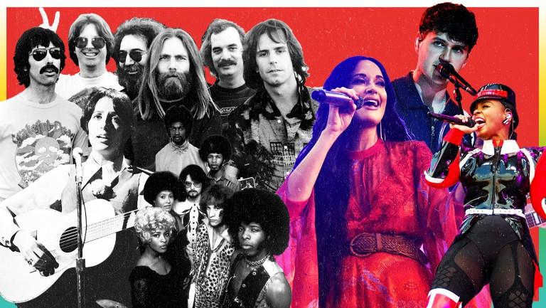 <p>Grateful Dead, Sly and the Family Stone,&nbsp&#x3B;Joan Baez,&nbsp&#x3B;Kacey Musgraves, Ezra Koenig of&nbsp&#x3B;Vampire Weekend and&nbsp&#x3B;Janelle Monáe</p>