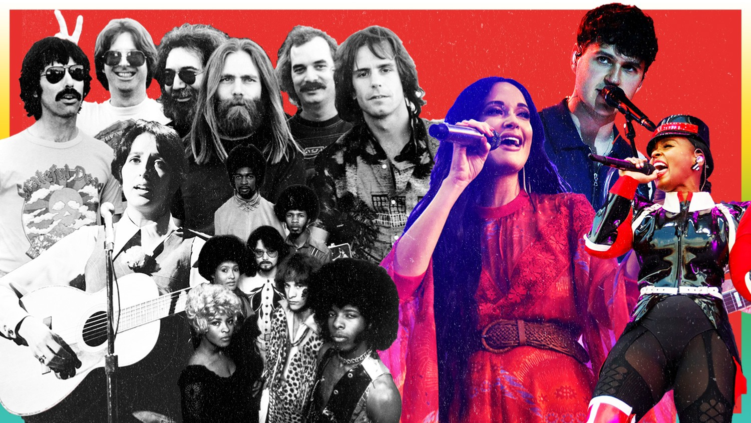 Grateful Dead, Sly and the Family Stone, Joan Baez, Kacey Musgraves, Ezra Koenig of Vampire Weekend and Janelle Monáe