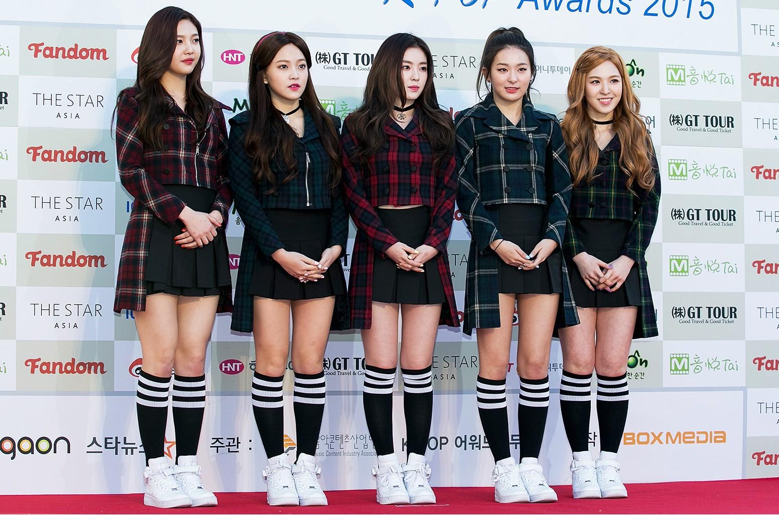 Red Velvet attends the 5th Gaon Chart K-Pop Awards on Feb. 17, 2016 in Seoul, South Korea.