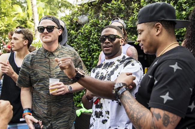 Reggie Bush dances at Red Bull Guest House in Miami