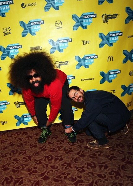 """Reggie Watts and writer/director Benjamin Dickinson attend the premiere of """"Creative Control"""" during the 2015 SXSW"""