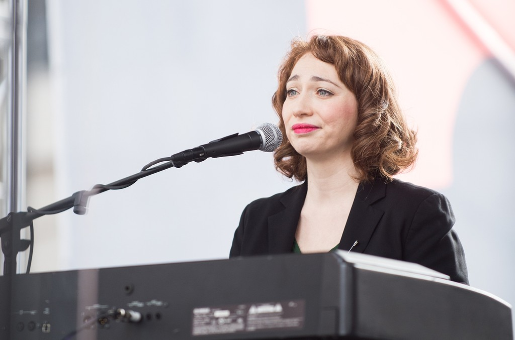 Regina Spektor performs onstage at the women's march in Los Angeles on January 21, 2017 in Los Angeles, California.  (Photo by Emma McIntyre/Getty Images)