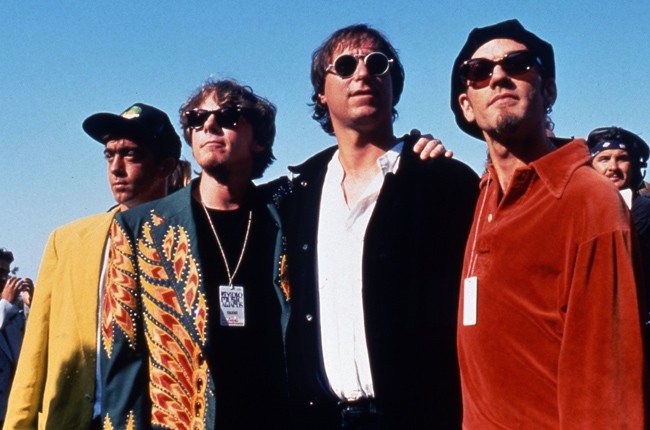 R.E.M. photographed in 1990.
