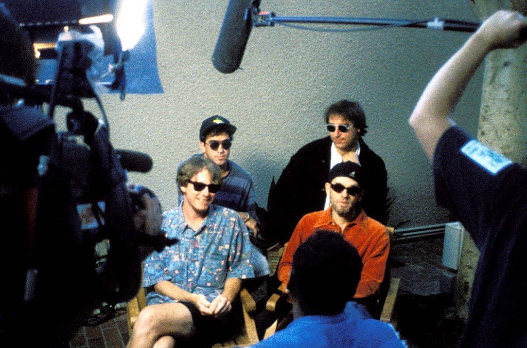 Mike Mills, Bill Berry, Peter Buck and Michael Stipe of R.E.M.