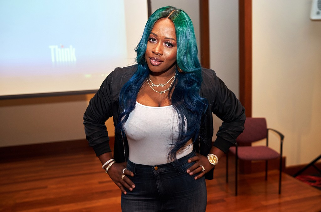 Remy Ma attends Breaking Boundaries presented by Women On The Move And HerSource With NYU & OBE at NYU on March 30, 2017 in New York City.