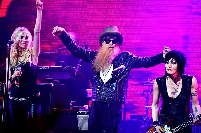 Taylor Momsen, Billy Gibbons of ZZ Top and Joan Jett perform at the 2014 Revolver Golden Gods Awards