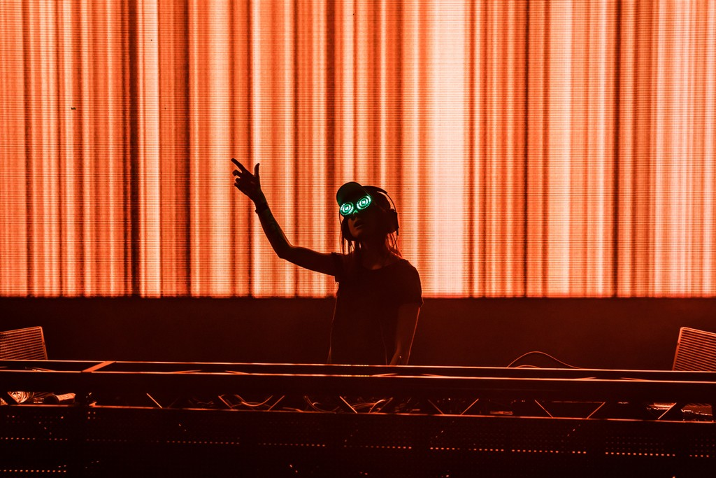 Rezz performs at the Buku Music + Art Festival on March 11, 2017 in New Orleans.