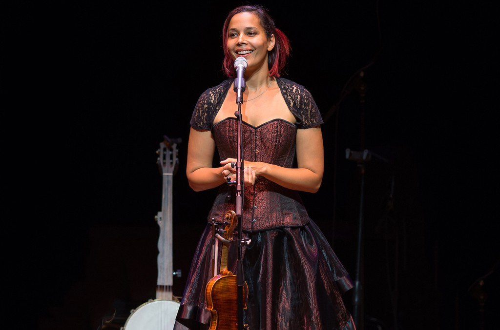 Rhiannon Giddens performs at Lincoln Center in New York City on May 13, 2017.
