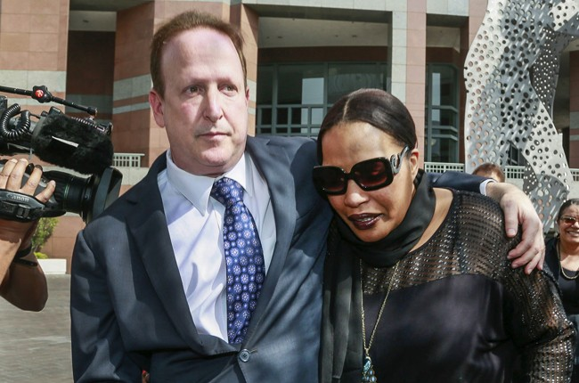 blurred lines trial Attorney Richard Busch, left, and Nona Gaye, daughter of the late Marvin Gaye,