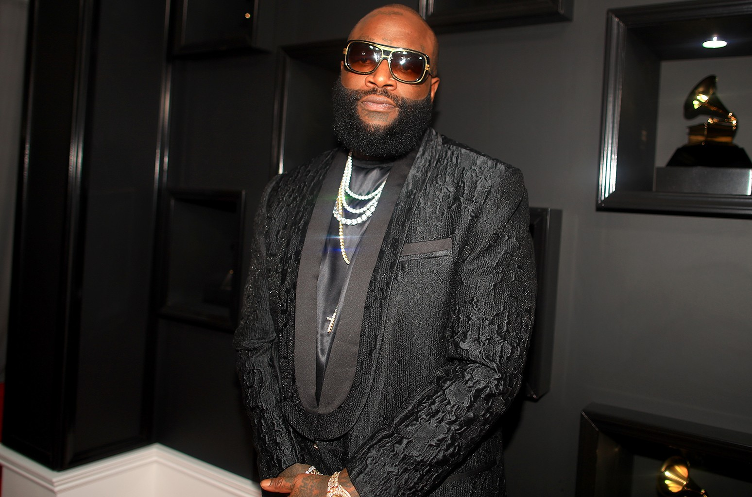 Rick Ross attends The 59th Grammy Awards at Staples Center on Feb. 12, 2017 in Los Angeles.