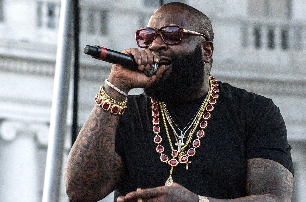 Rick Ross performs at the Civic Center in Denver on April 19, 2015.