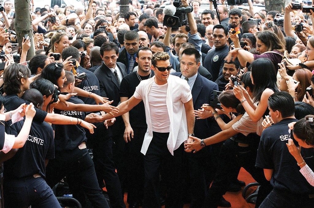 Ricky Martin in Paris, France on July 13, 1999.