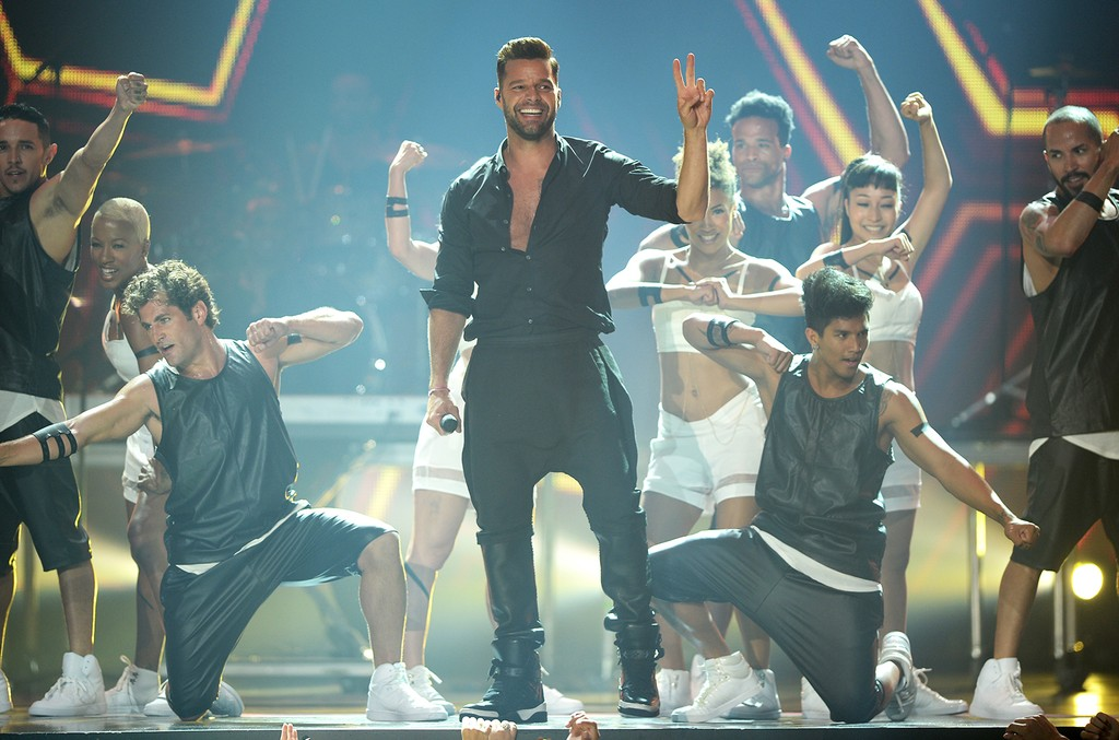 Ricky Martin performs onstage during the 2014 Billboard Latin Music Awards at Bank United Center on April 24, 2014 in Miami.