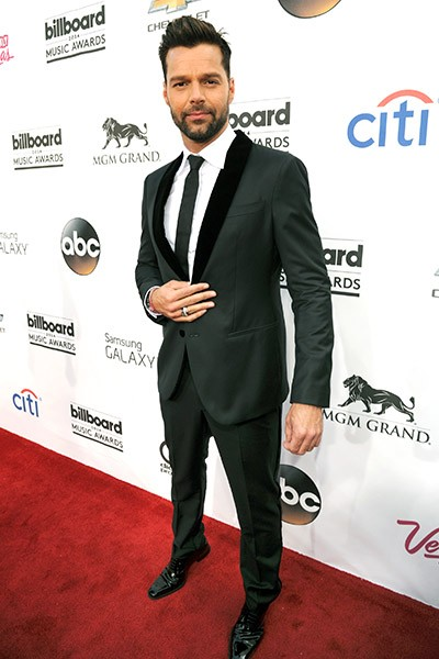 Ricky Martin on the red carpet at the 2014 Billboard Music Awards