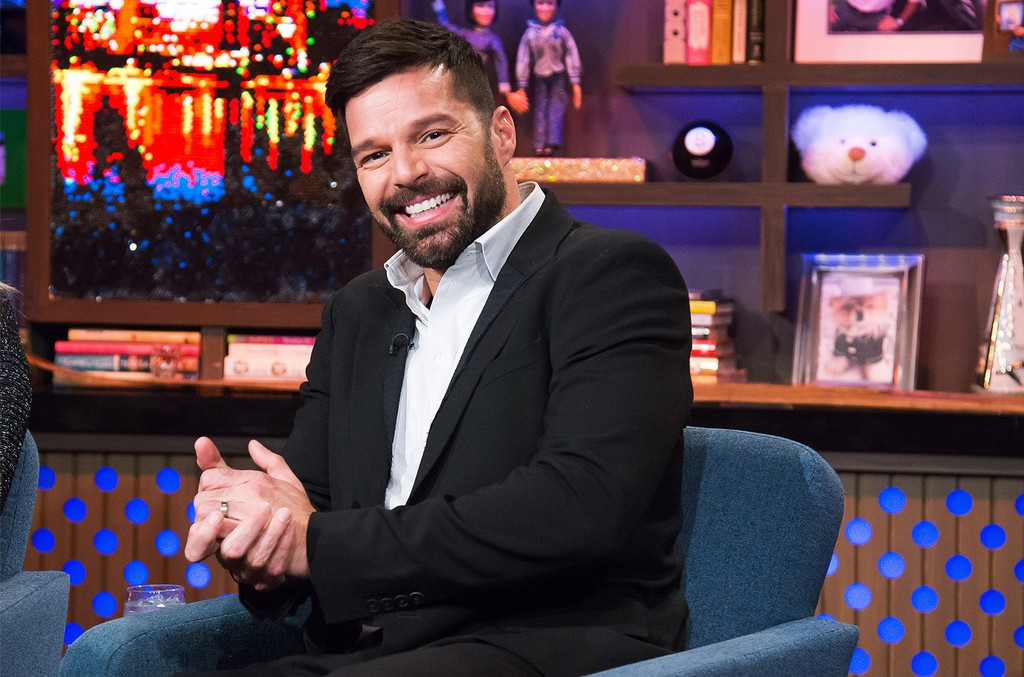 Ricky Martin on Watch What Happens Live with Andy Cohen.