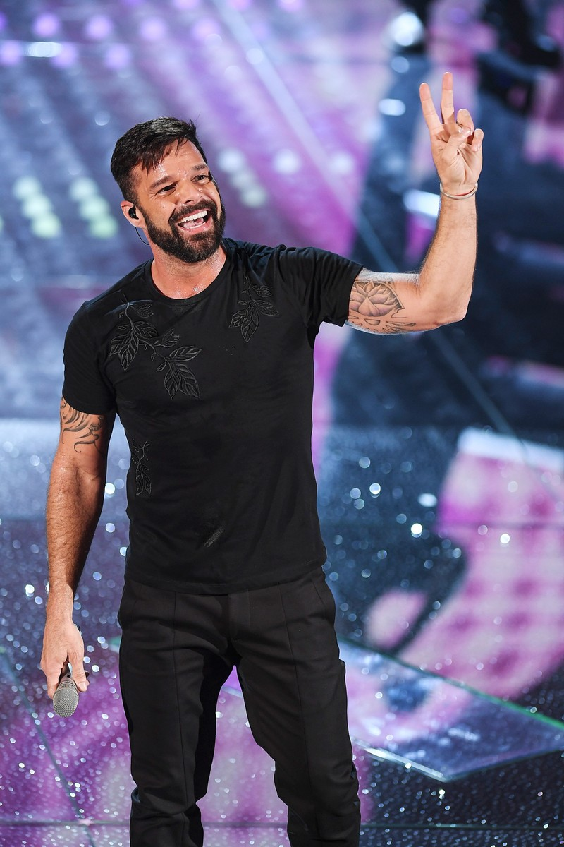 Ricky Martin attends the opening night of the 67th Sanremo Festival 2017 at Teatro Ariston on Feb. 7, 2017 in Sanremo, Italy.