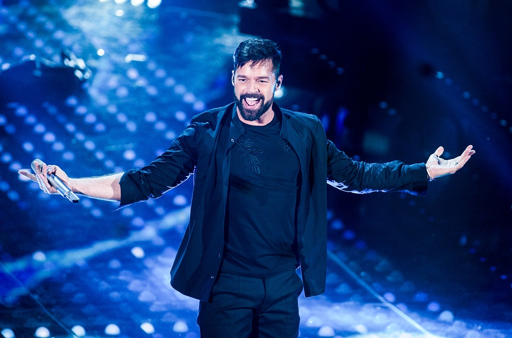 Ricky Martin attend the opening night of the 67th Sanremo Festival 2017 at Teatro Ariston on Feb. 7, 2017 in Sanremo, Italy.