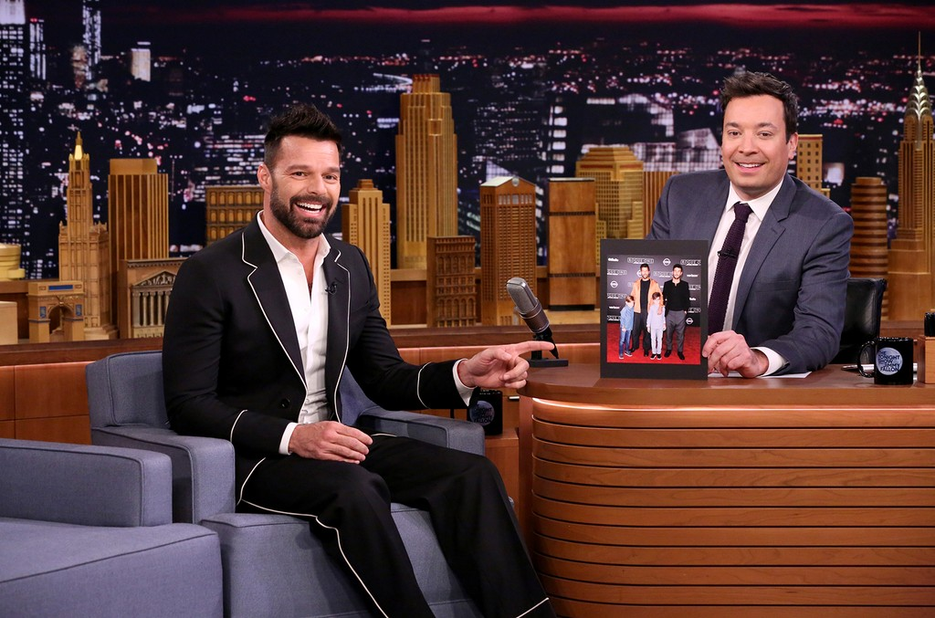Ricky Martin during an interview on The Tonight Show Starring Jimmy Fallon on Feb. 16, 2017.