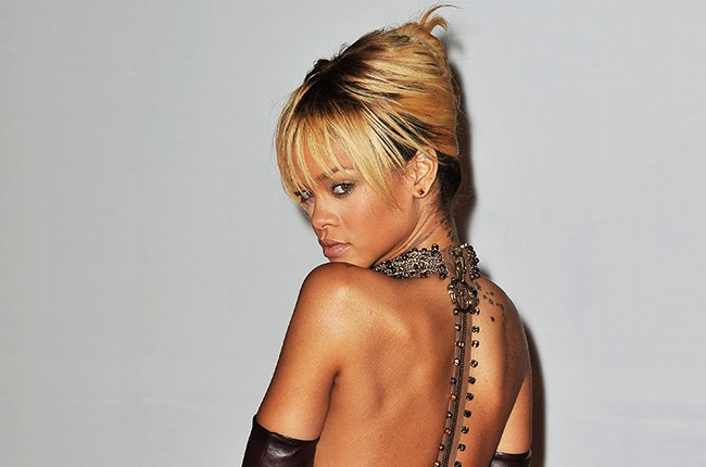Rihanna attends The BRIT Awards 2012 at the O2 Arena on February 21, 2012