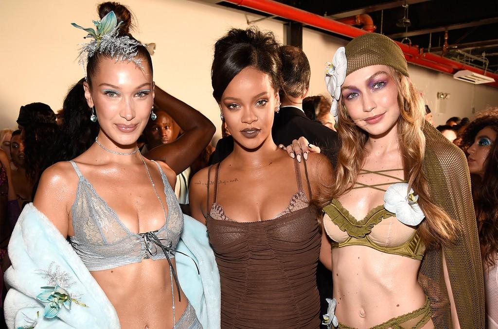 Bella Hadid, Rihanna and Gigi Hadid