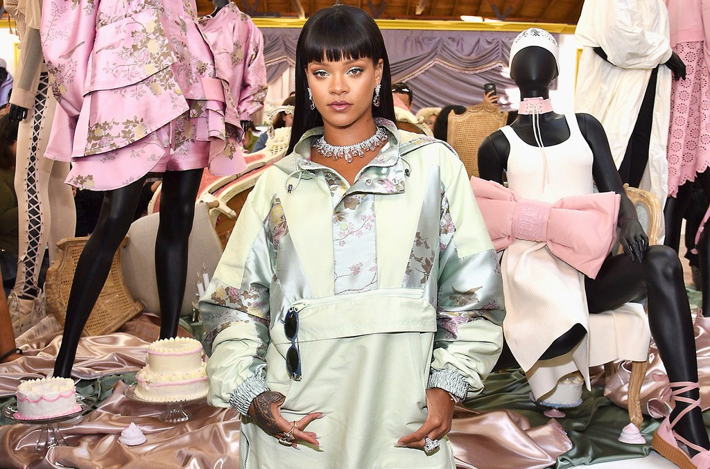 Rihanna at the FENTY PUMA by Rihanna Experience on April 18, 2017 in Los Angeles.