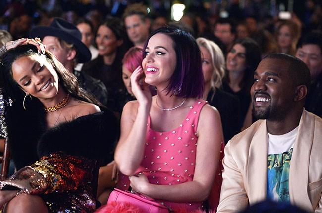 Rihanna, Katy Perry, Kanye West