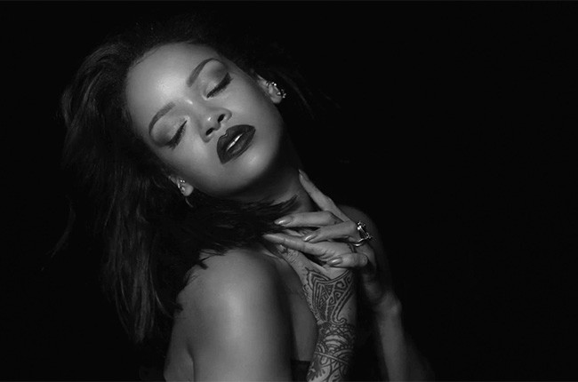 "Rihanna's 2016 ""Kiss It Better"" music video."