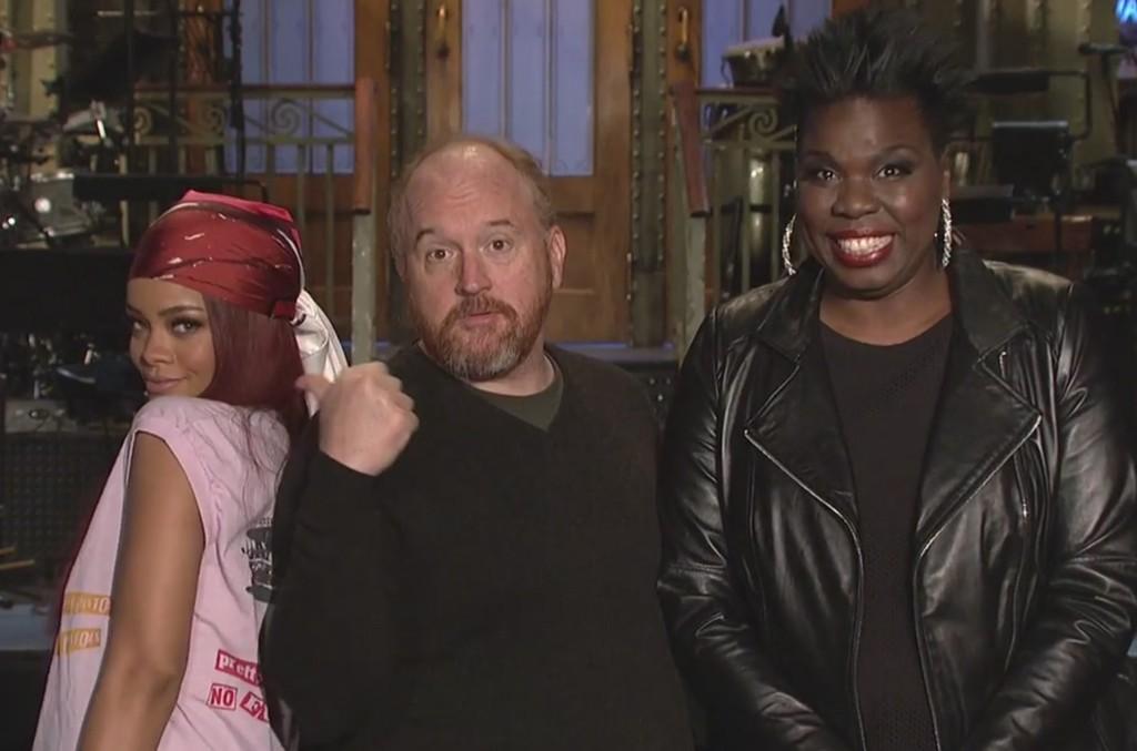 "Rihanna, Louis C.K. and Leslie Jones on ""SNL"""